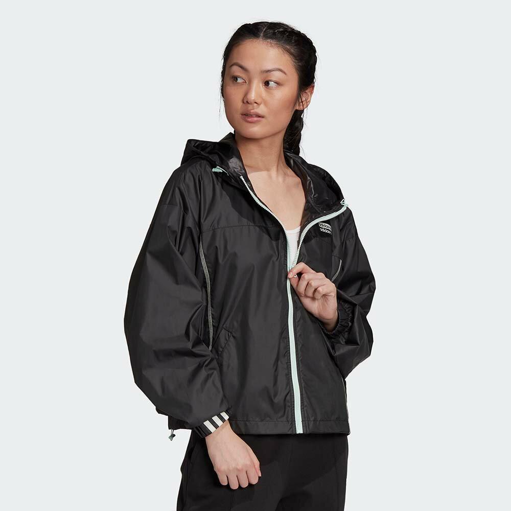 【領券最高折$400】Adidas Originals R.Y.V. 女裝 外套 連帽 防風 抽繩 袖口縮口 撞色 黑【運動世界】GD3077