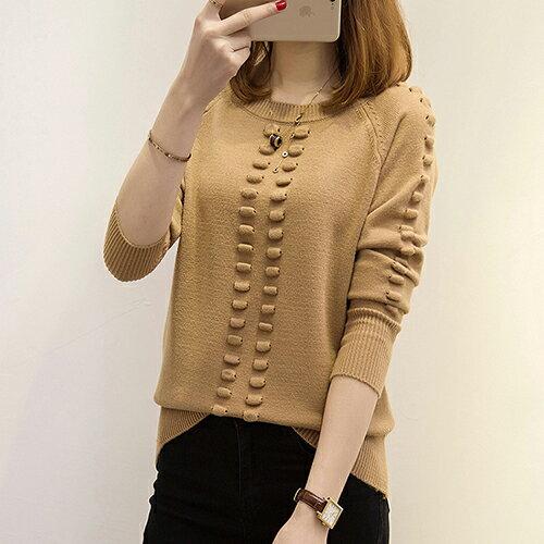 韓版針織衫寬鬆圓領套頭毛衣(5色F碼) 【OREAD】 1