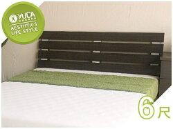 床頭片【YUDA】貴族 6尺加大雙人 床頭片/床頭板 (非床頭箱/床頭櫃) 6色可選