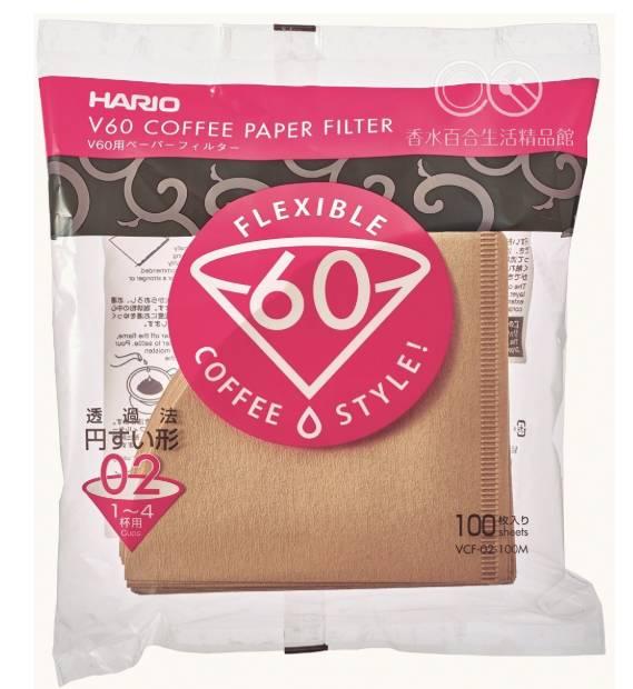 🌟現貨🌟HARIO 咖啡濾紙 VCF-02-100M 1~4CUP 100入 手沖濾紙 錐形濾紙 手沖咖啡 無漂白濾紙