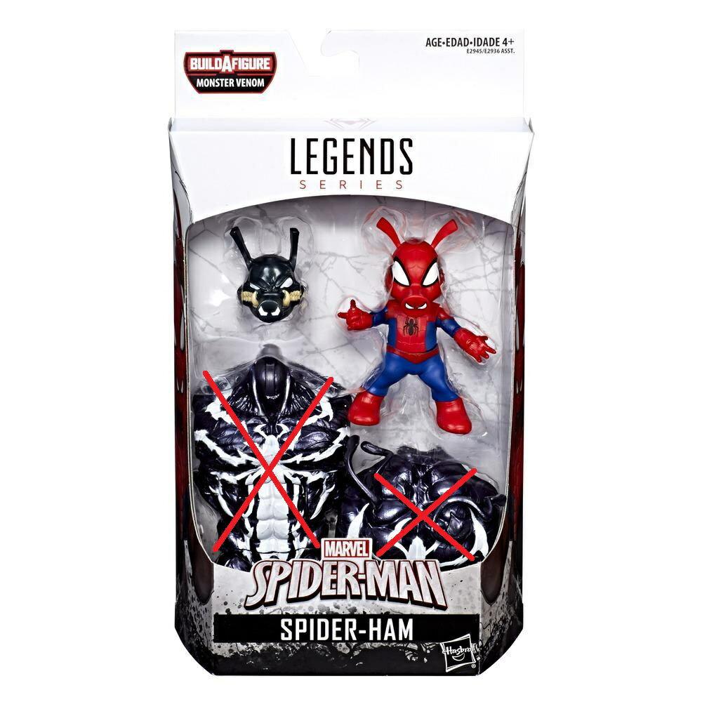 (卡司 正版現貨)Marvel Legends 6吋 蜘豬人 蜘蛛豬 猛毒套(無Baf)可動