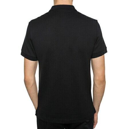 美國百分百【全新真品】Burberry 短袖 polo衫 素面 戰馬 logo 英倫 精品 黑色 M號 J696