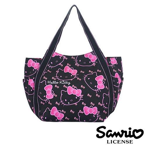 4031【日本正版】Hello Kitty X Dearisimo 帆布肩揹包 托特包 帆布包 手提袋 旅行袋 凱蒂貓 - 123312