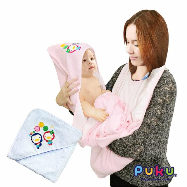 PUKU 寶寶沐浴圍裙 粉/藍【六甲媽咪】