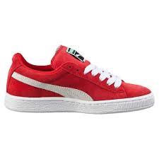 SneakersLife:PUMASUEDECLASSICJR紅白大童鞋女鞋US5.5355110-03B倉