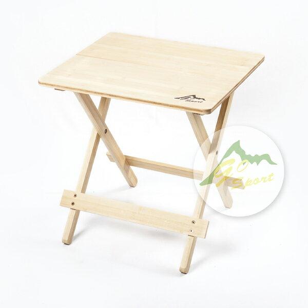 【露營趣】中和 GO SPORT 98006 竹板桌 休閒桌 摺疊桌 蛋捲桌 茶几 邊几