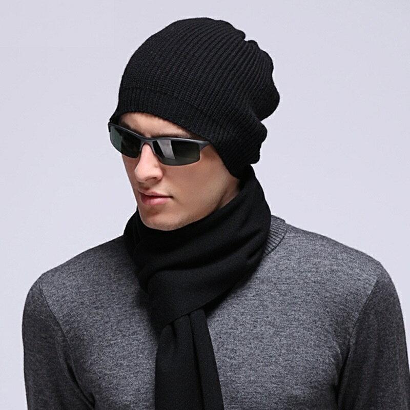 毛帽羊毛針織帽-純色休閒保暖護耳男帽子3色73wj51【獨家進口】【米蘭精品】 1