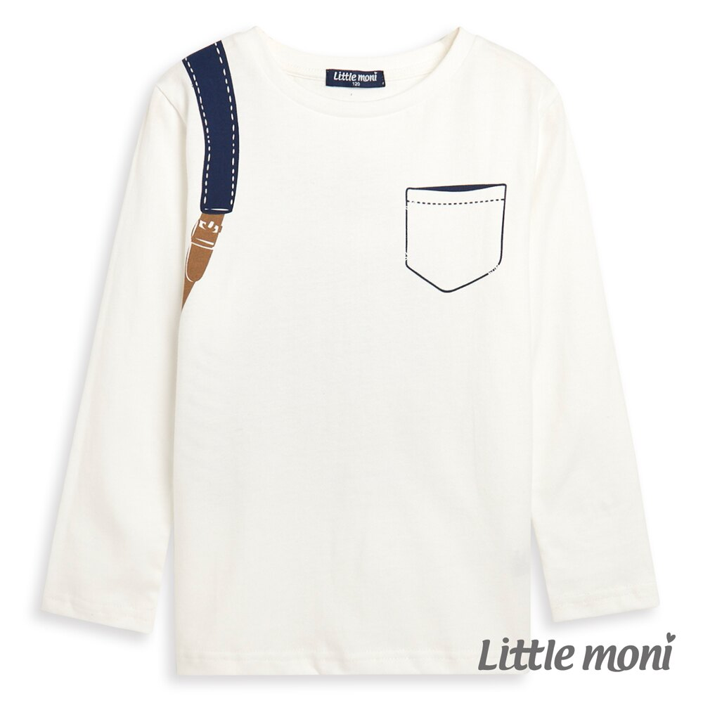 Little moni 後背包印圖上衣-象牙白(好窩生活節) 1