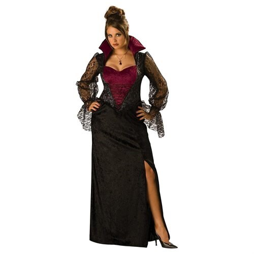 Midnight Vampiress Adult (Plus) Halloween Costume 0
