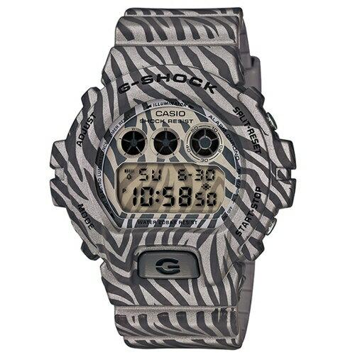 CASIO G-SHOCK/森林狂野斑馬紋路運動腕錶/DW-6900ZB-8
