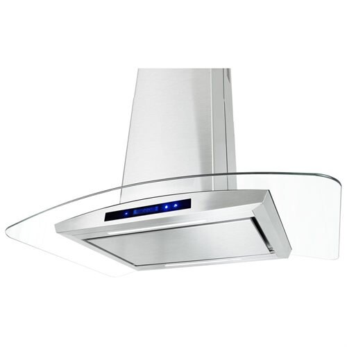 "AKDY 36"" GV9005P-36 Europe Style Stainless Steel Island Range Hood Unique Flat Design 0"