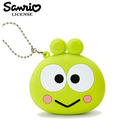 【日本正版】大眼蛙 矽膠 零錢包 吊飾 小物收納 三麗鷗 Sanrio - 618219