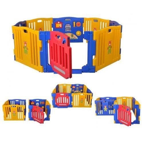 New Baby Playpen Kids 8 Panel Safety Play Center Yard Home Indoor Outdoor Pen