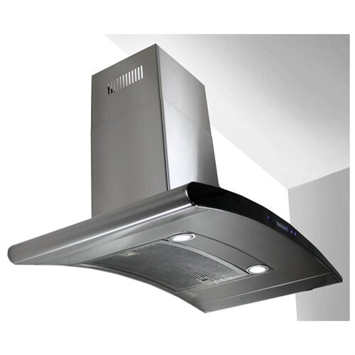 "AKDY 30"" AK-198KN3-30CF Stainless Steel Wall Range Hood Carbon Filter Included For Ventless/Ductless Options 2"