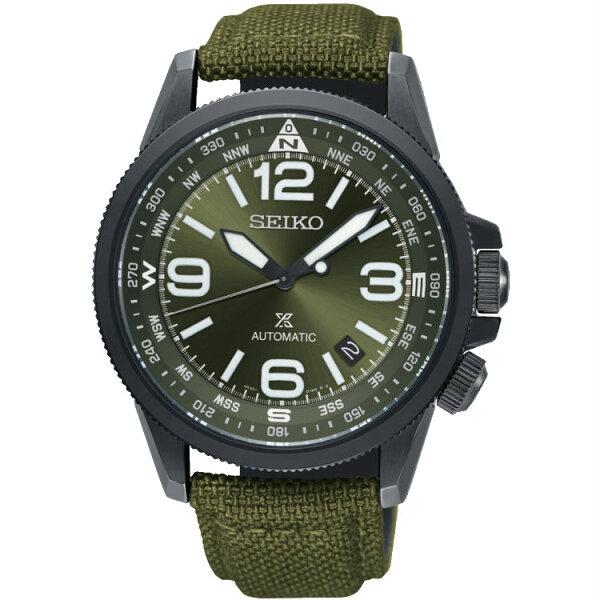 Seiko精工PROSPEX4R35-02N0G(SRPC33J1)空全方位飛行機械錶軍綠42mm
