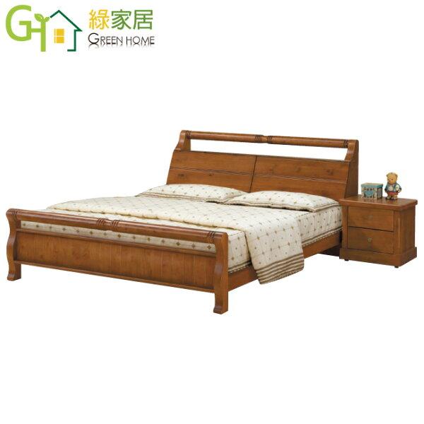 【綠家居】多米典雅5尺實木雙人床台(不含床墊&床頭櫃)