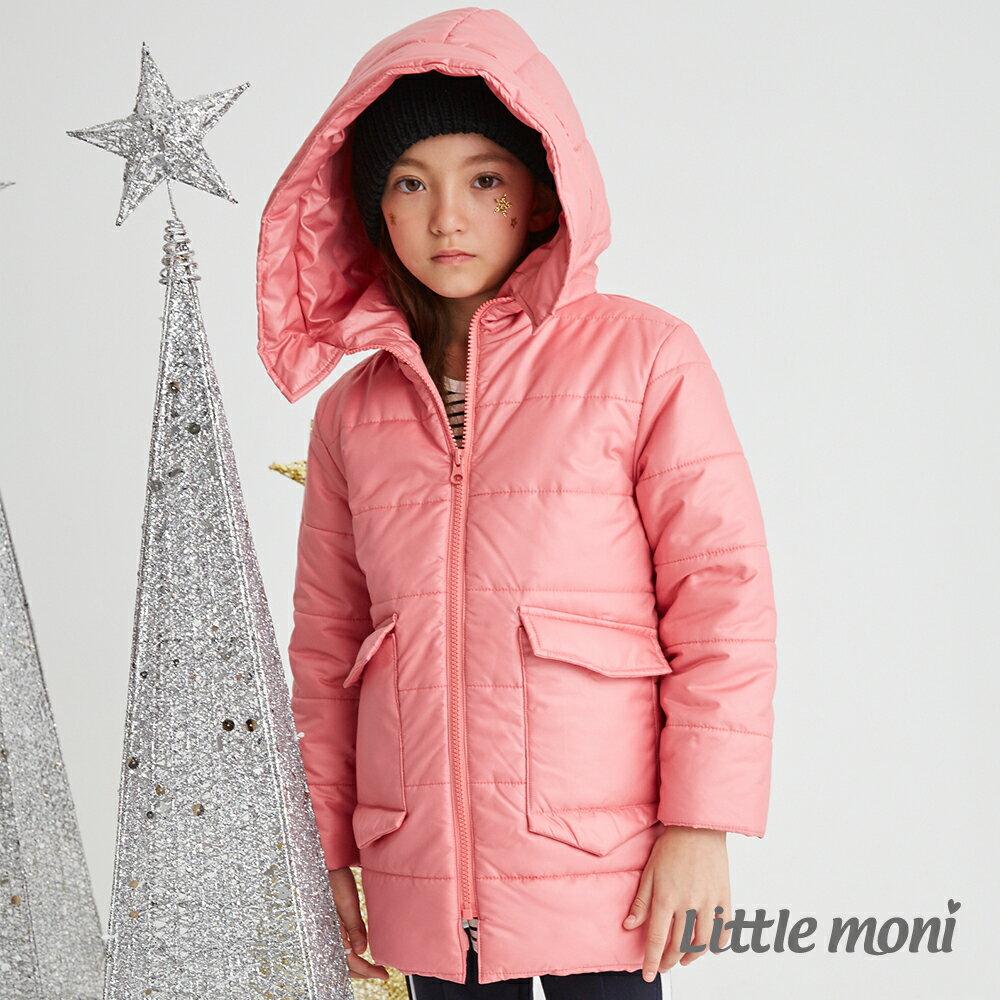 Little moni 3M科技羽絨保暖長版外套-熱情粉 1