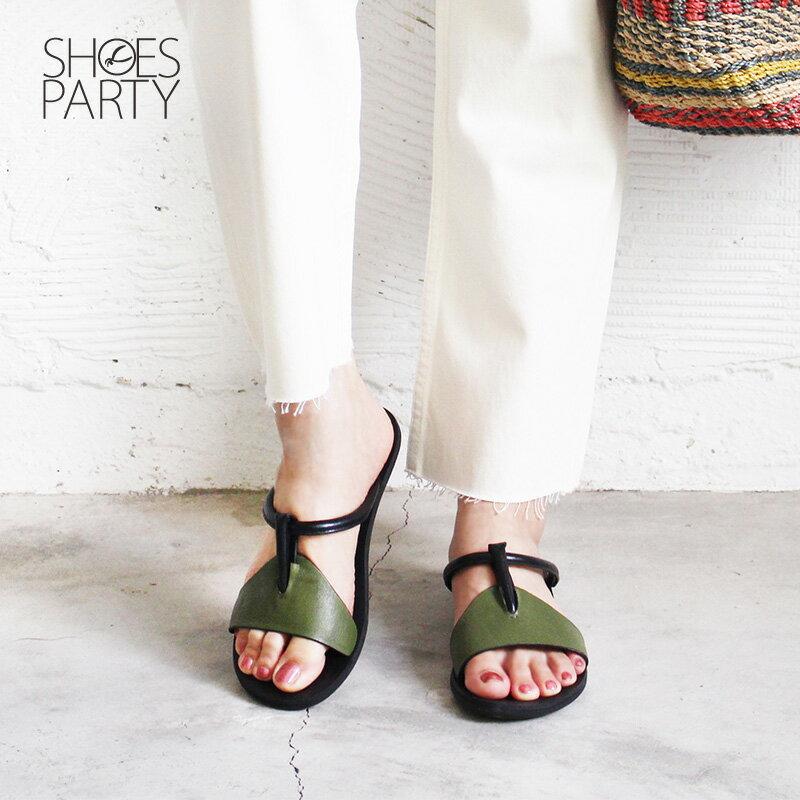 馬上出貨【F2-18425L】世界系列-倒垃圾穿它最時尚-真皮拖鞋_Shoes Party 4