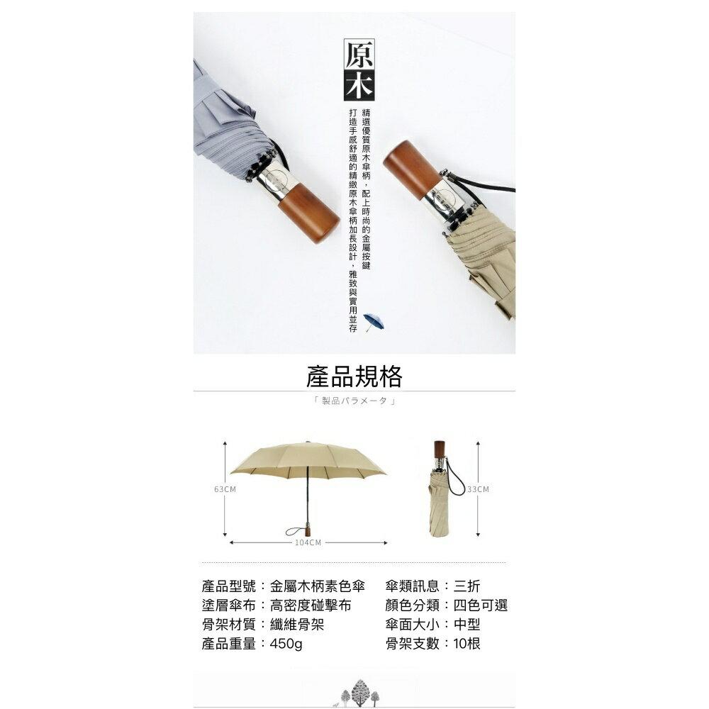 【現貨免等】復古實木手柄雨傘 自動傘 折疊傘【UBAAST23】 4