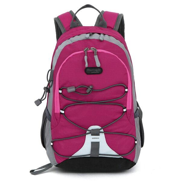 良林皮件:【FREEKNIGHT】15L輕量休閒女用背包兒童背包(玫紅)FK0611RD