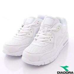 【DIADORA】透氣輕量慢跑鞋經典款-WC2889白(女段)