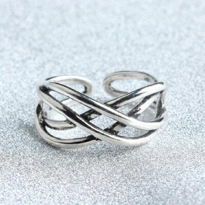 ~925純銀戒指線條開口戒~ 大方寬版情人節生日 女飾品73gp47~ ~~米蘭 ~