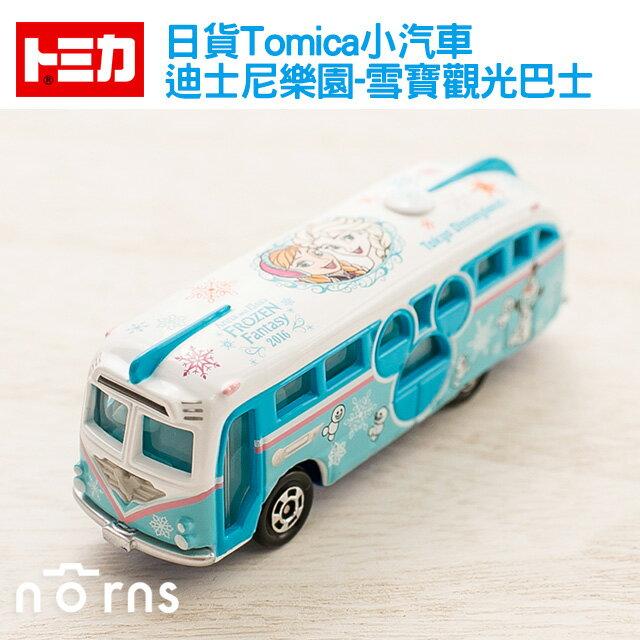 NORNS 【日貨Tomica小汽車(迪士尼樂園-雪寶觀光巴士)】日本多美 玩具車 冰雪奇緣