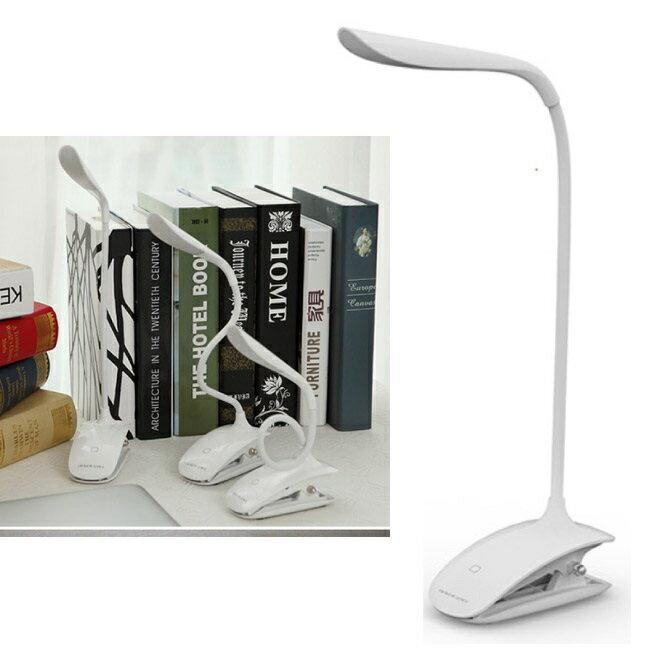 【鐵樂瘋3C 】(展翔) 時尚LED觸控夾燈 USB充電式 YW-LED501(神腦代理 全省售後服務)