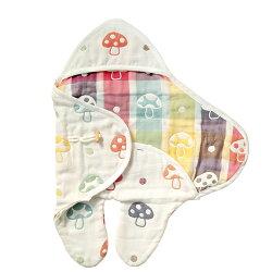 日本 Hoppetta 六層紗蘑菇包巾★衛立兒生活館★