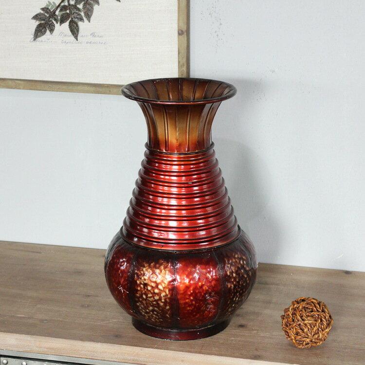 歐式巴洛克復古鐵藝花瓶  大號孤品 家居裝飾品 古董樣1入