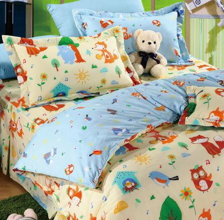 華閣床墊寢具:*華閣床墊寢具*《森林樂園》雙人薄被套台灣精製MIT