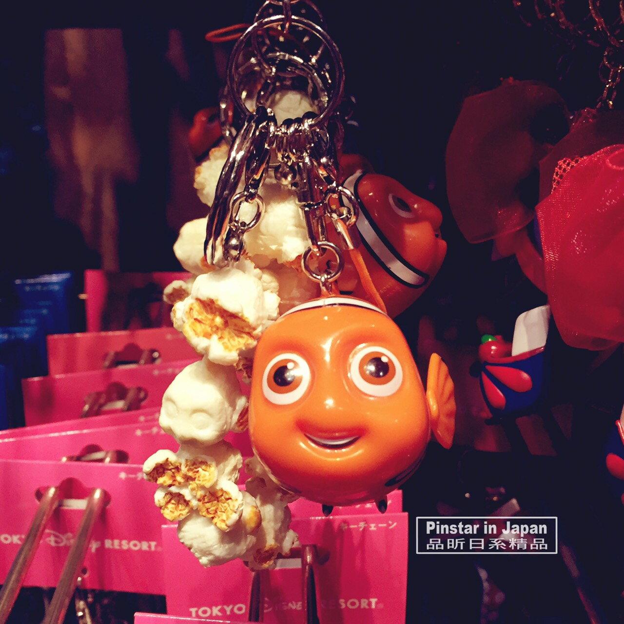 【真愛日本】18012600012 樂園限定鎖圈-爆米花筒尼莫 小丑魚尼莫 爆米花鑰匙圈 吊飾 日本迪士尼樂園帶回