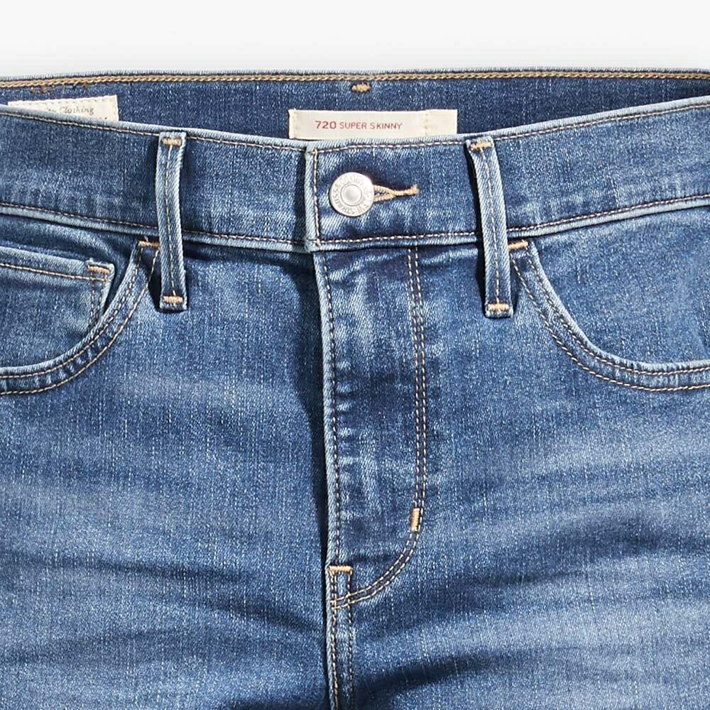 Levis 女款 720 高腰超緊身窄管 超彈力牛仔褲  /  Sorbtek保暖纖維  /  Warm Jeans內刷毛  /  破壞縫補  /  彈性布料 W 6