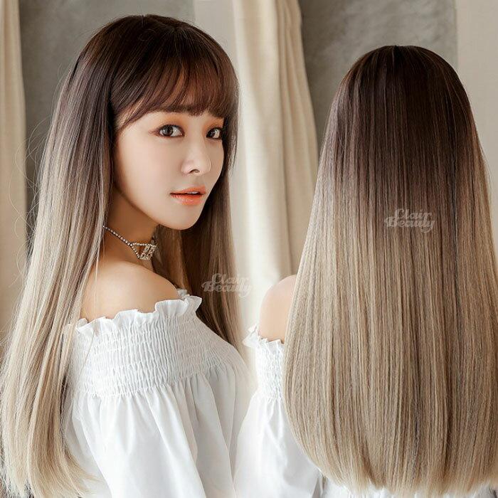 經典直髪長自然 耐熱  簡約 超美中分 假髮【MC559】☆雙兒網☆