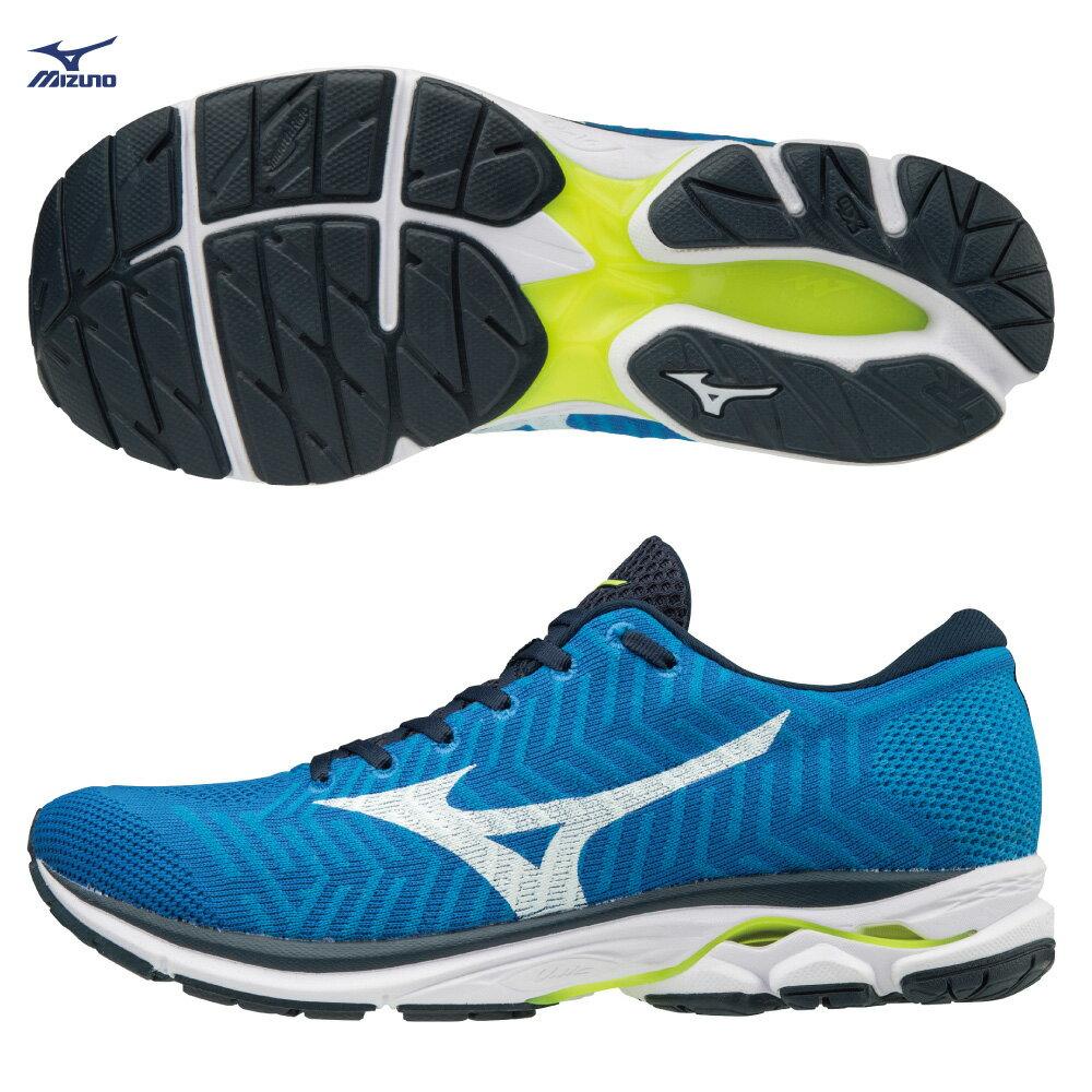 J1GC182401(藍X白)WAVEKNIT技術編織 WAVEKNIT R1 男慢跑鞋 S【美津濃MIZUNO】 0