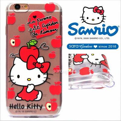 官方授權 三麗鷗 Sanrio Hello Kitty 浮雕 彩繪 iPhone 6 6S Plus Note5 Z5 Z5P A5 A7 A9 手機殼 軟殼 愛心蘋果【D0220191】