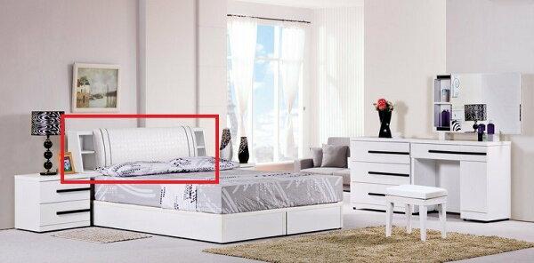 【石川家居】YE-A152-01邦妮白色5尺床頭(不含床底及其他商品)台北到高雄搭配車趟免運