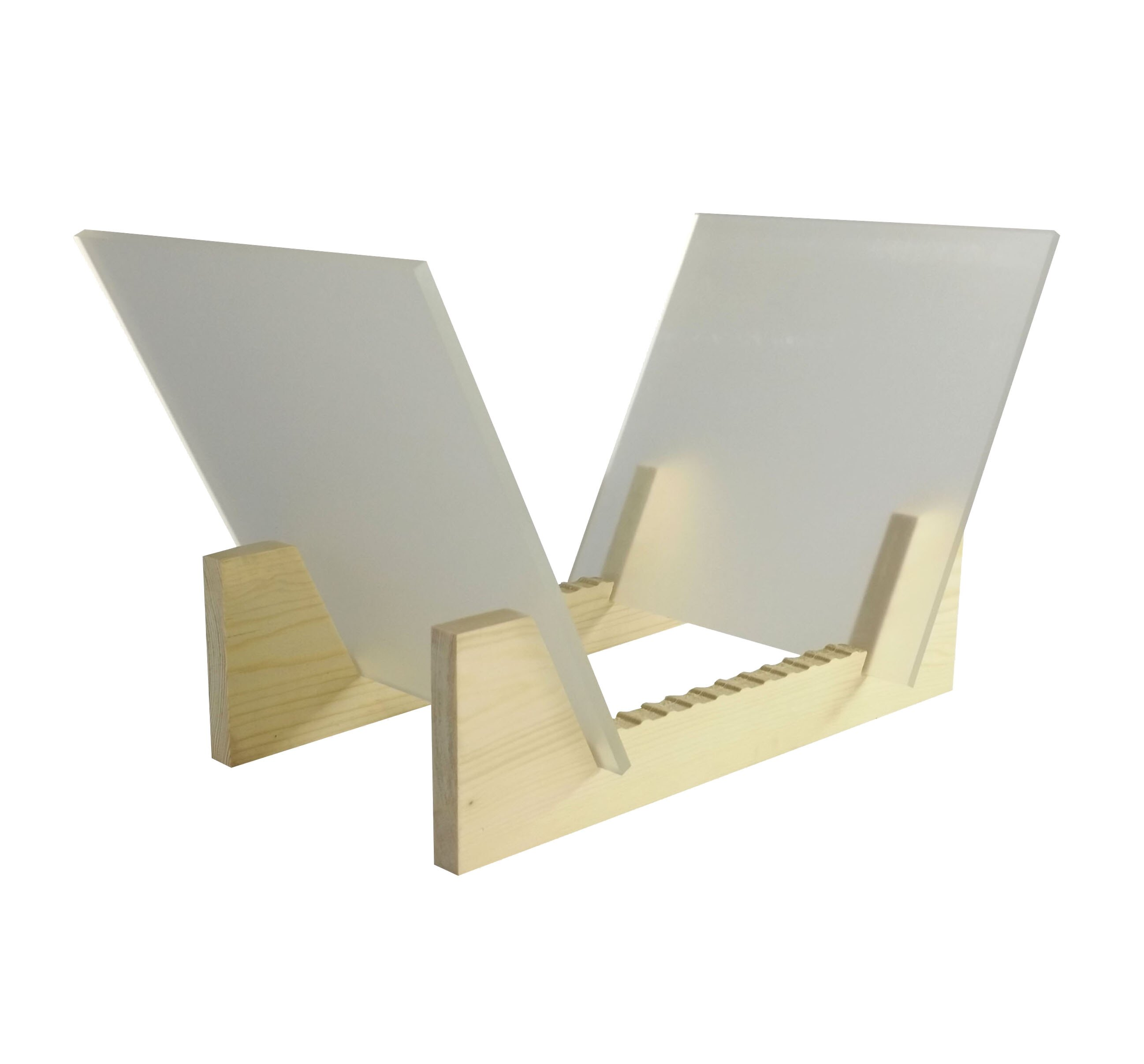 389b373e999b Fixture Displays Vinyl Record Storage 25-Album Display Holder LP Organizer  Tabletop LP Stand Pine