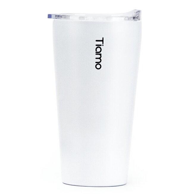 金時代書香咖啡 Tiamo 真空陶瓷隨手杯 410ml 白 HE5161W