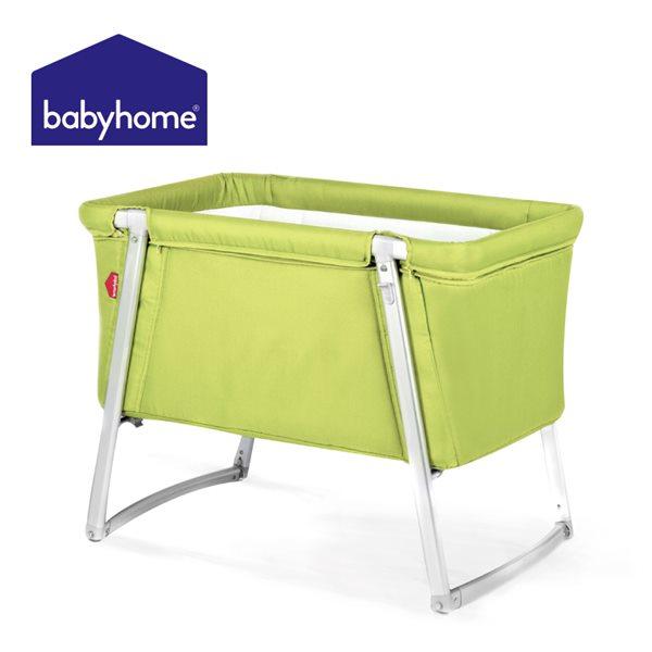 歐洲嬰兒床★BABYHOME 多功能嬰兒搖床-萊姆黃 B-BH00404LIME