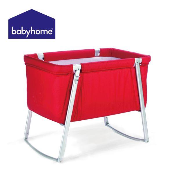 歐洲嬰兒床★BABYHOME 多功能嬰兒搖床-亮眼紅 B-BH00404RED