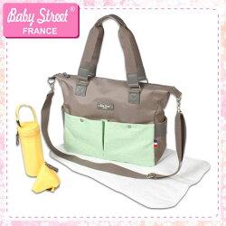 baby street 法國雙色機能肩背包/側背包/媽媽包【小丁婦幼】