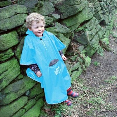 英國koo-di兒童雨衣/幼童雨衣/防風防雨/附帽子/好攜帶便攜式/附收納袋-藍 R-KD068-25