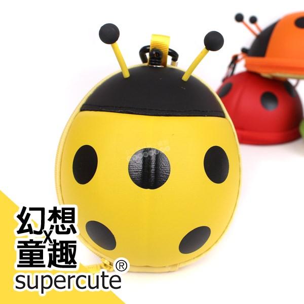 瓢蟲卡包零錢包-黃/鑰匙包/奶嘴收納包/零錢包/耳機收納包 supercute R-SF031-Y0