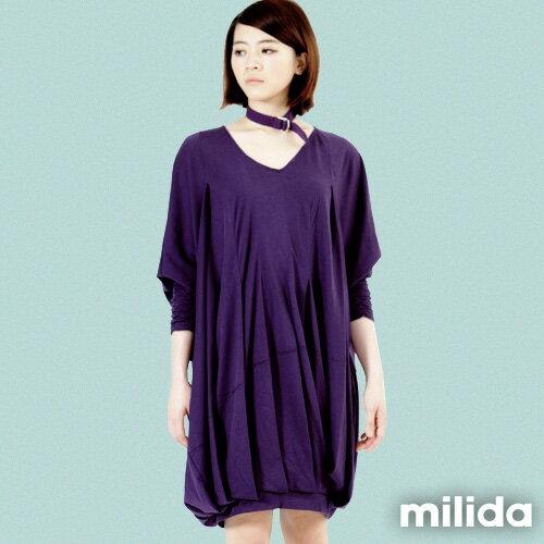 【Milida,全店七折免運】-秋冬單品-洋裝款-飛鼠袖休閒風 6