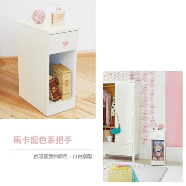 收納櫃 置物櫃 邊櫃 床頭櫃 馬卡龍系列日系床頭櫃(II)(單抽屜) (附插座) 天空樹生活館 5