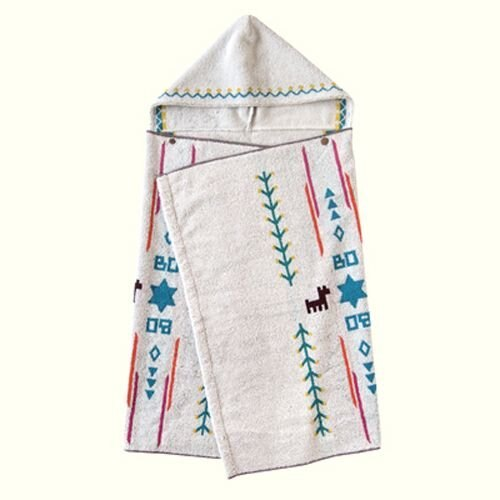 【點數下單送咖啡】Hoppetta - BOBO - 小樹苗連帽浴巾 8