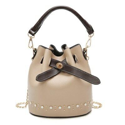 手提包肩背水桶包-休閒百搭鍊條子母女包包4色73fc305【獨家進口】【米蘭精品】