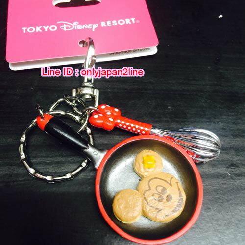 【真愛日本】16062700034樂園限定食物烹飪鎖圈-米奇米妮鬆餅  迪士尼 米老鼠米奇 米妮 鎖圈 吊飾 鑰匙圈