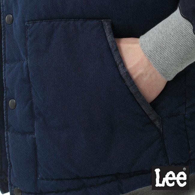 Lee 連帽羽絨背心 / RG-深藍色-男款 6